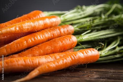 Fresh organic carrot Poster