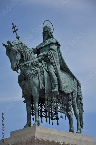Statue of King Stephen 1 on Castle Hill, Budapest