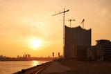 Hamburg Harbor, Hafencity, Elbphilharmonie