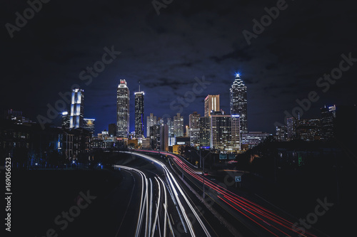 Fotobehang Nacht snelweg atlanta georgia