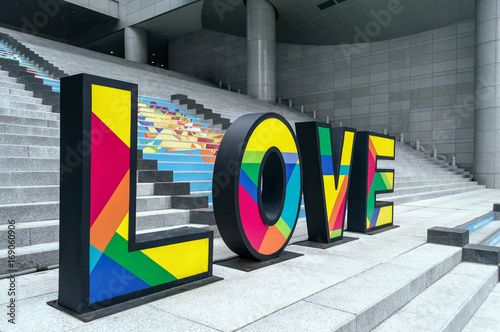 Fotobehang Seoel Love letters at Yongsan station in Seoul