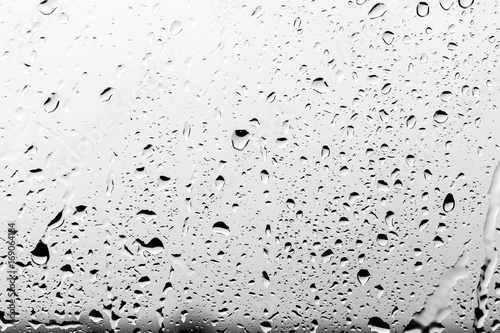 Rain drops on the glass, background Poster