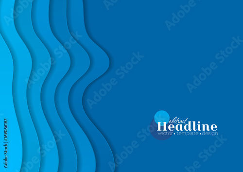 Blue corporate minimal material waves abstract background