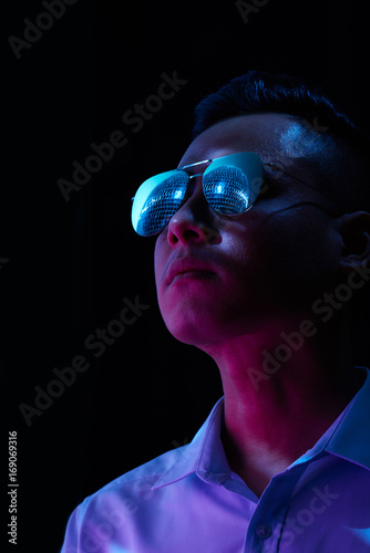 Man in nightclub Poster