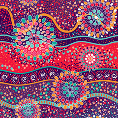 Colorful decorative pattern. Ethnic background