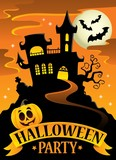 Halloween party sign theme image 8 - 169084902