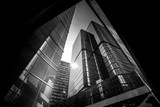 Fototapety Hong Kong Architecture Black And White