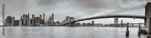 Plakat panoramę - brooklyn bridge - new york