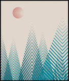 Vector geometric triangle background, abstract mountains.Conceptual background, with mountains.Flat design. Use for card, poster, brochure,banner,web.Interior print. Sunset over the forest.