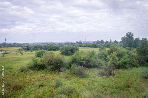 Foto op Canvas Wit Idyllic landscape of nature in Siberia, Russia - on a day in summer 2017