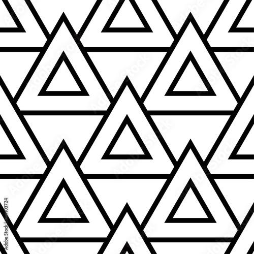 Geometric black and white seamless pattern - 169103724
