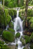 Toberia Waterfalls at Entzia mountain range, Basque Country, Spain