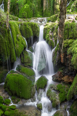 Toberia Waterfalls at Entzia mountain range, Basque Country, Spain