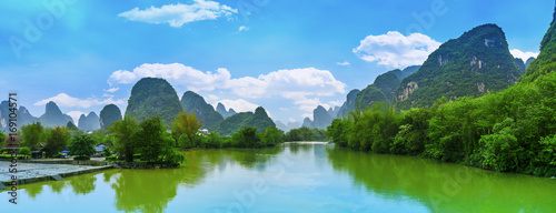 Plexiglas Guilin Guilin Yangshuo beautiful natural scenery