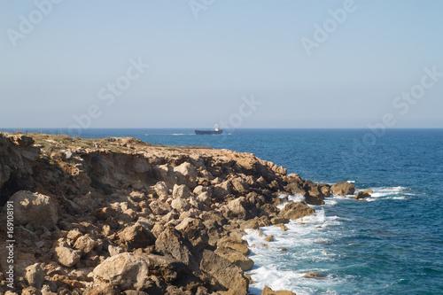 Fotobehang Cyprus Каменистый берег