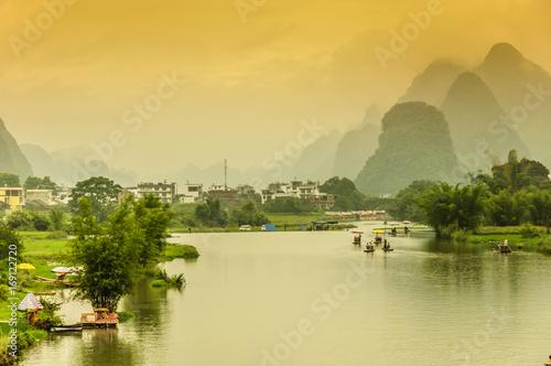 Fotobehang Guilin Guilin Lijiang landscape scenery