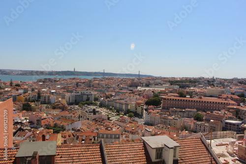 Panorama Lissabon Poster