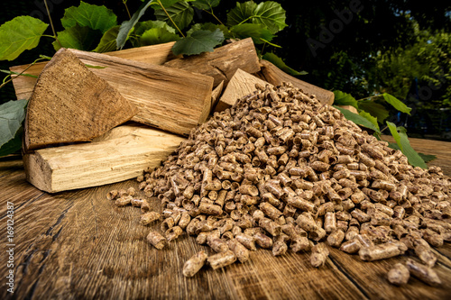 wooden pellet bio fuel Poster