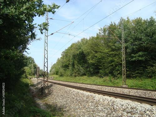Bahnstrecke in der Natur