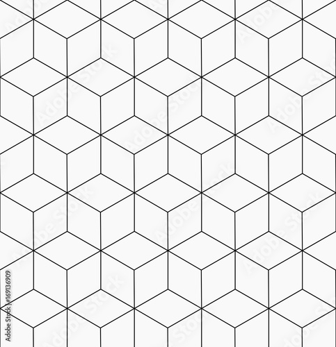 Hexagonal trendy hipster geometric vector pattern - 169136909