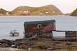 Old fishing shack in Newfoundland NL Canada
