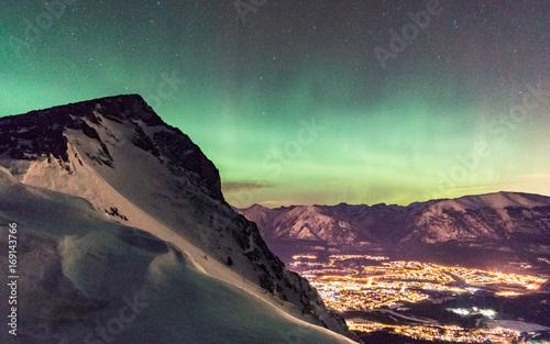 Fotobehang Noorderlicht Canmore Aurora