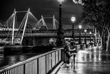 Beautiful South bank in London - romantic walk at River Thames - LONDON / GREAT BRITAIN - DECEMBER 6, 2017