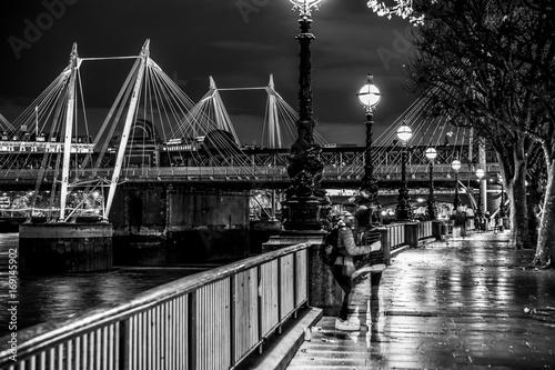 Beautiful South bank in London - romantic walk at River Thames - LONDON / GREAT Poster