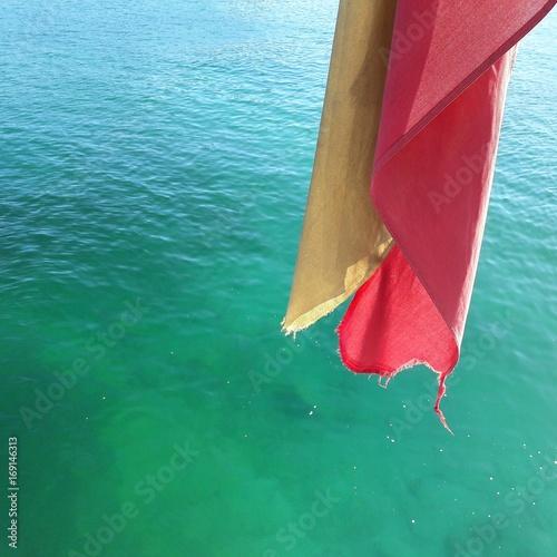 Spanish flag water sea