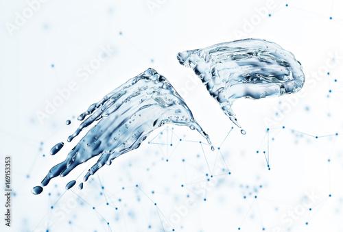 Water splash on blue background © lotus_studio