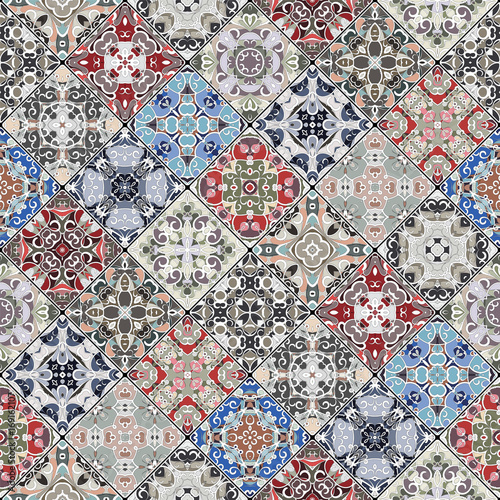 Abstract patterns in the mosaic set. - 169162107