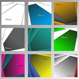 Set of abstract vector backgrounds, made of straight lines