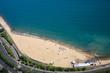 Chicago, lake shore drive, Oak Street Beach, aerial view,