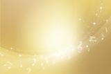 音符と金色の背景 - 169172741