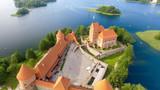 Aerial view of Trakai Castle, Lithuania - 169173187