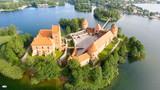 Aerial view of Trakai Castle, Lithuania - 169173304