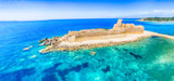 Panoramic aerial view of Aragonese Fortress, Calabria, Italy - 169173967