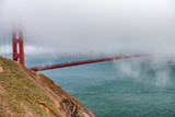 San Francisco Golden Gate Bridge Shrouded by Fog - 169174124
