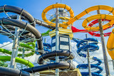 Colorful water slide...