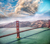 Aerial view of San Francisco Golden Gate Bridge from Helicopter - 169174578