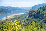 Aerial view of Columbia River Gorge, from Oregon side