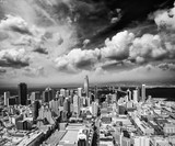 SAN FRANCISCO - AUGUST 2017: Aerial view of Downtown San Francisco skyline. The city hosts 25 million people annually - 169176344