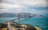 Aerial view of San Francisco Golden Gate Bridge from Helicopter - 169176745