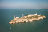 Aerial helicopter view of Alcatraz Island, San Francisco - 169177515