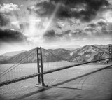 Aerial view of San Francisco Golden Gate Bridge from Helicopter - 169177734
