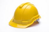 Yellow safety helmet isolated on white background. - 169192959