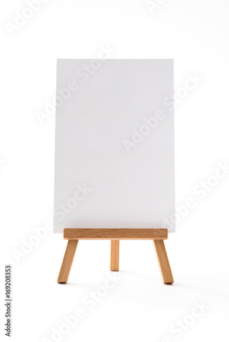 small vertical easel front.