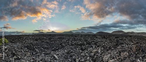 Foto op Canvas Canarische Eilanden view of Timanfaya national park with volcanoes