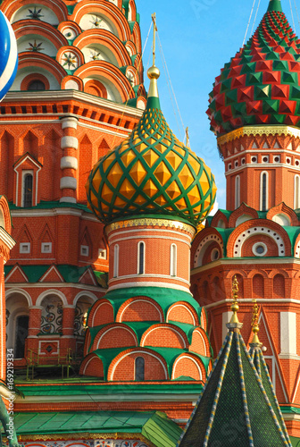 Fotobehang Moskou The Cathedral of Vasily the Blessed or Saint Basil's Cathedral, Red Square.