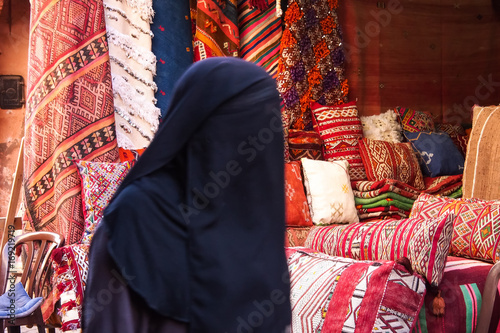Staande foto Marokko Marokko - Marrakesch - Altstadtsouk